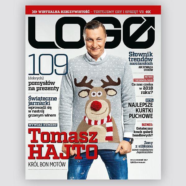 Tomasz Hajto - bohater okładkowy grudniowego 'LOGO'