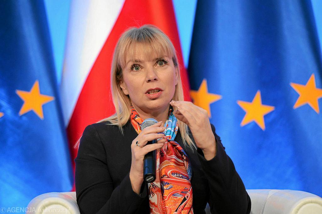 Komisarz Unii Europejskiej Elżbieta Bieńkowska.