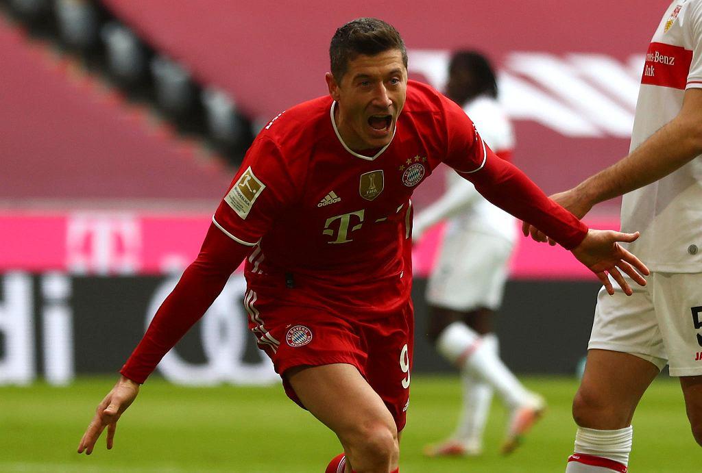 Robert Lewandowski po trzecim golu dla Bayernu