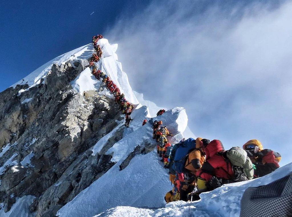 Kolejki na Mount Everest