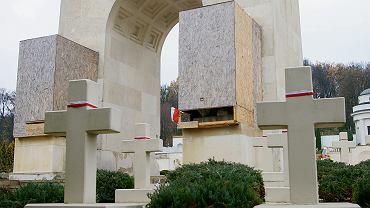 Pomnik Chwały z dwoma kamiennymi lwami strzegącymi cmentarza Orląt we Lwowie został odsłonięty w 1934 r. Jeden przytrzymywał łapą herb miasta z napisem 'Zawsze wierny', drugi - godło Polski z inskrypcją 'Tobie, Polsko'. W latach 70. na polecenie władz ZSRR budowla została zdewastowana, a lwy wywiezione poza cmentarz. Pod koniec 2015 r. Polacy przywieźli je tu z powrotem. Władze miejskie podważyły legalność powrotu figur, nakazały zbadanie, czy nie mają charakteru antyukraińskiego, i kazały je ukryć je w drewnianych skrzyniach