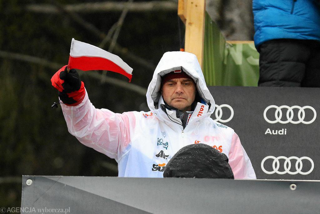 Stefan Horngacher podczas kwalifikacji do konkursu Turnieju Czterech Skoczni