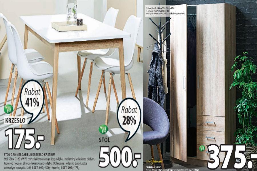 Funkcjonalne meble do domu - szafy, stół i krzesła