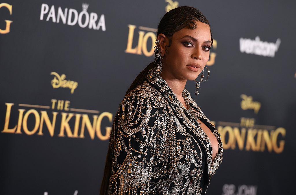 Beyonce na amerykańskiej premierze 'Króla Lwa'