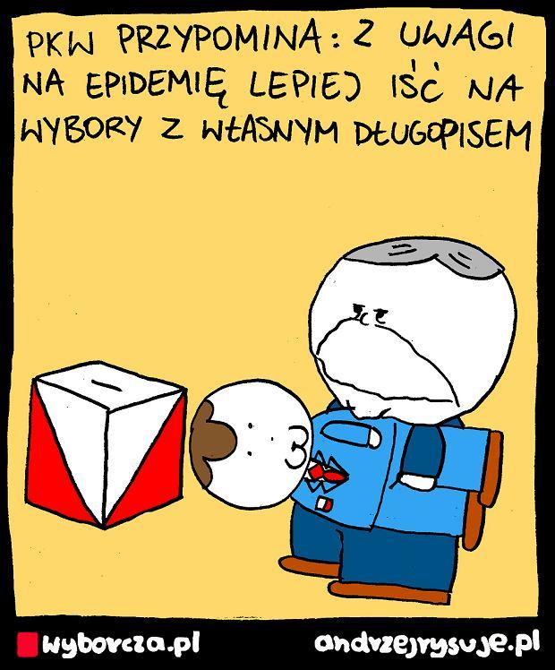 Andrzej Rysuje | DŁUGOPIS - <a href=