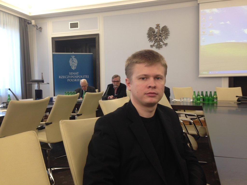 Rostysław Szaposznikow w polskim Senacie