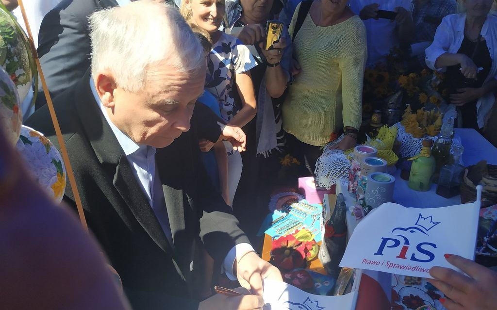 Jarosław Kaczyński na Pikniku Rodzinnym w Dygowie