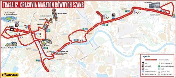 12. Cracovia Maraton - trasa biegu