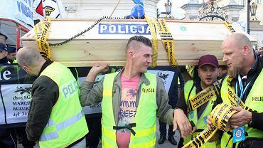 Protest służb mundurowych w Warszawie, 2 października 2018