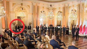 Jarosław Kaczyński na uroczystości na Zamku Królewskim