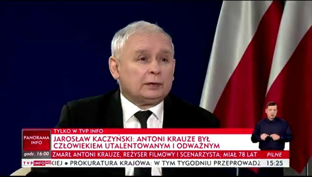 Jarosław Kaczyński o Antonim Krauze