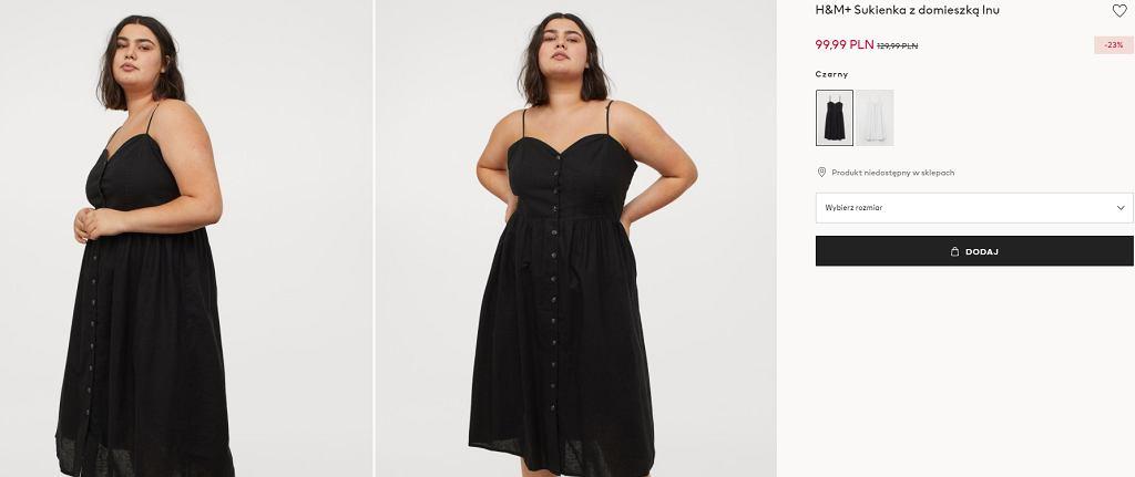 Sukienka na ramiączkach plus size HM