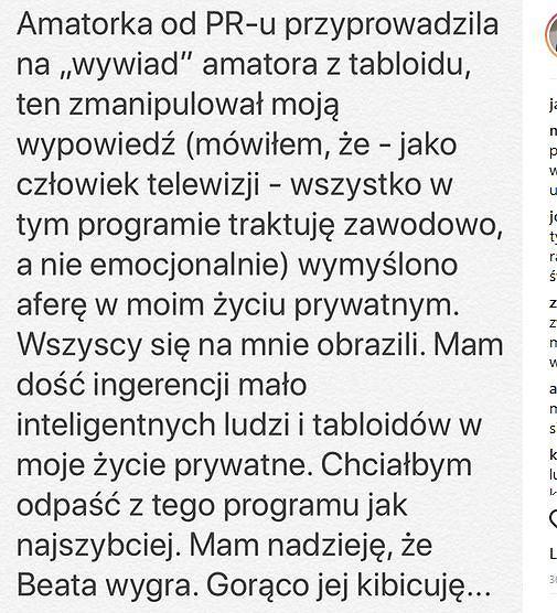 Oświadczenie Jarosława Kreta