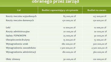 Warta Poznań - budżet