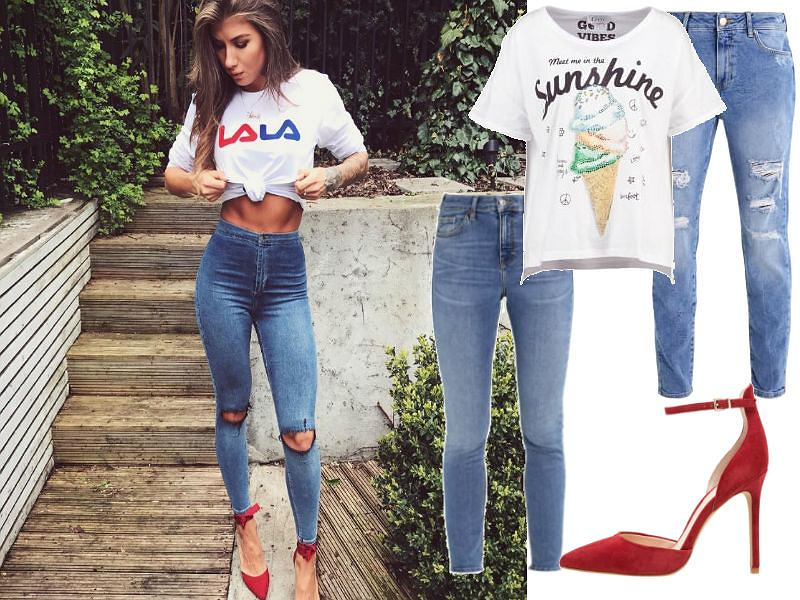 jeansowe stylizacje Deynn