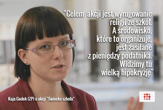 Kaja Godek o 'Świeckiej szkole'