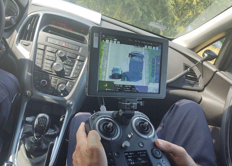 Policyjna kontrola przy pomocy drona