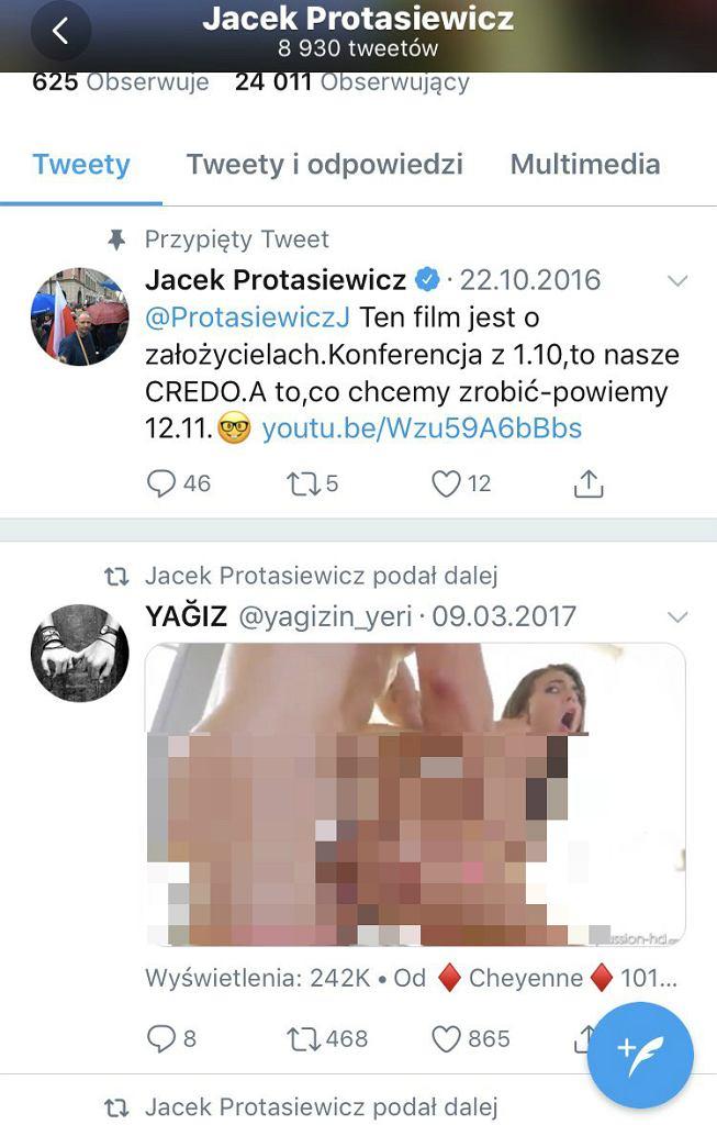 Wpis Jacka Protasiewicza