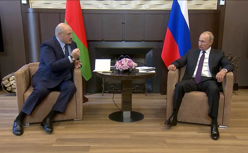 14.09.2020, Soczi, spotkanie Władimira Putina z Aleksandrem Łukaszenką