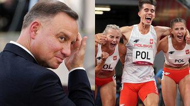 Tym razem Andrzej Duda nie czekał z gratulacjami za medal. Uczypliwe komentarze