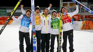 Severin Freund, Andreas Wellinger, Werner Schuster, Marinus Kraus i Andreas Wank