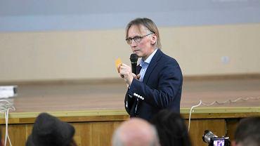 Spotkanie zwolenników Pawła Kukiza w Gdyni, Na zdjęciu: Jan Trzciński