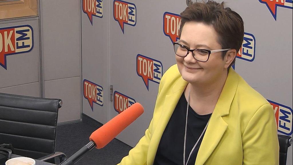 Katarzyna Lubnauer w studiu TOK FM.