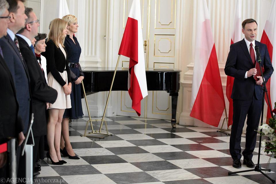Andrzej Duda podczas przekazania uchwały o wyborze na prezydenta