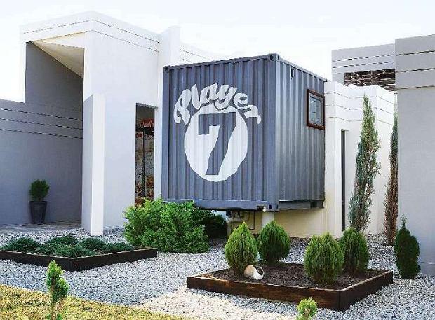 Wnętrza: dom w kontenerze w Pretorii