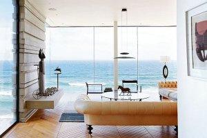 Wnętrza: dom nad oceanem w RPA