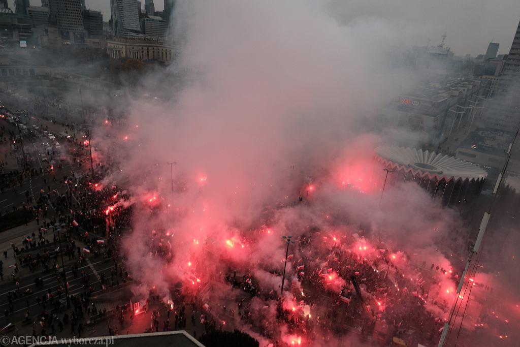 Dzień Niepodległości - tak wyglądało 'świętowanie' w Warszawie