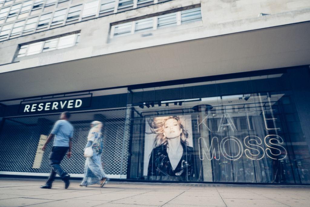 Reserved otworzył sklep w Londynie. Na otwarciu Kate Moss - twarz kampanii na Wyspach