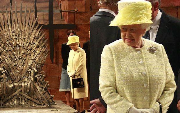 Królowa Elżbieta na planie 'Gry o tron'