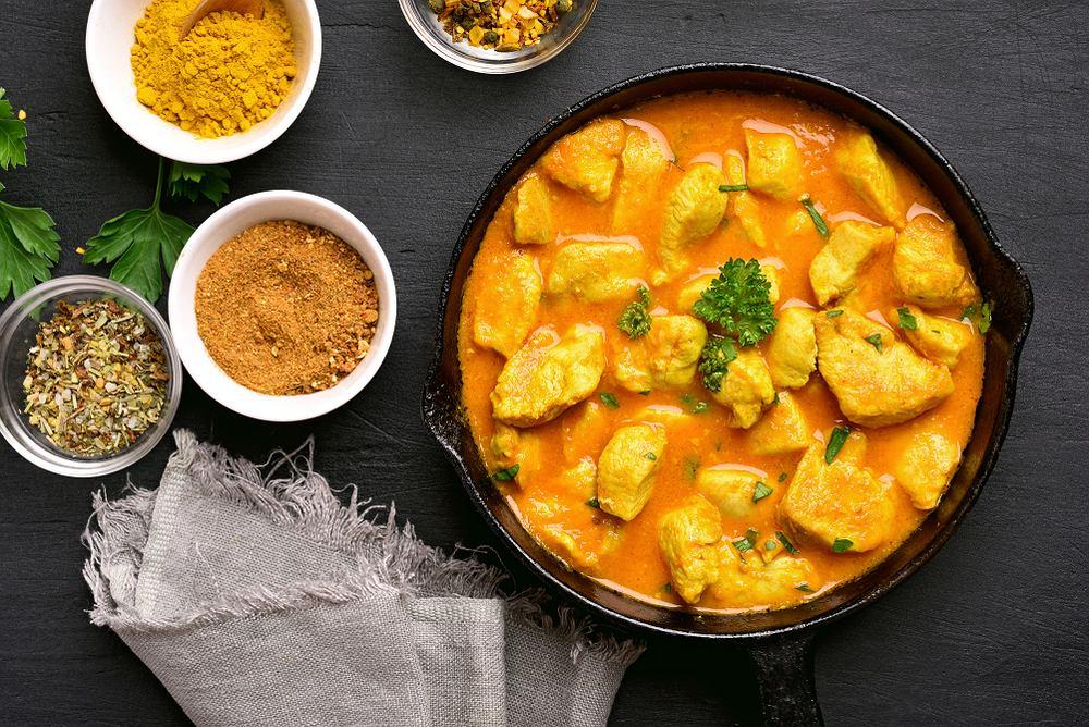 Szybki obiad - kurczak w sosie curry