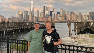 Daniel Stanisławski w Nowym Jorku. Nakręcił film 'Frank Little'. Na zdjęciu z tytułowym Frankiem