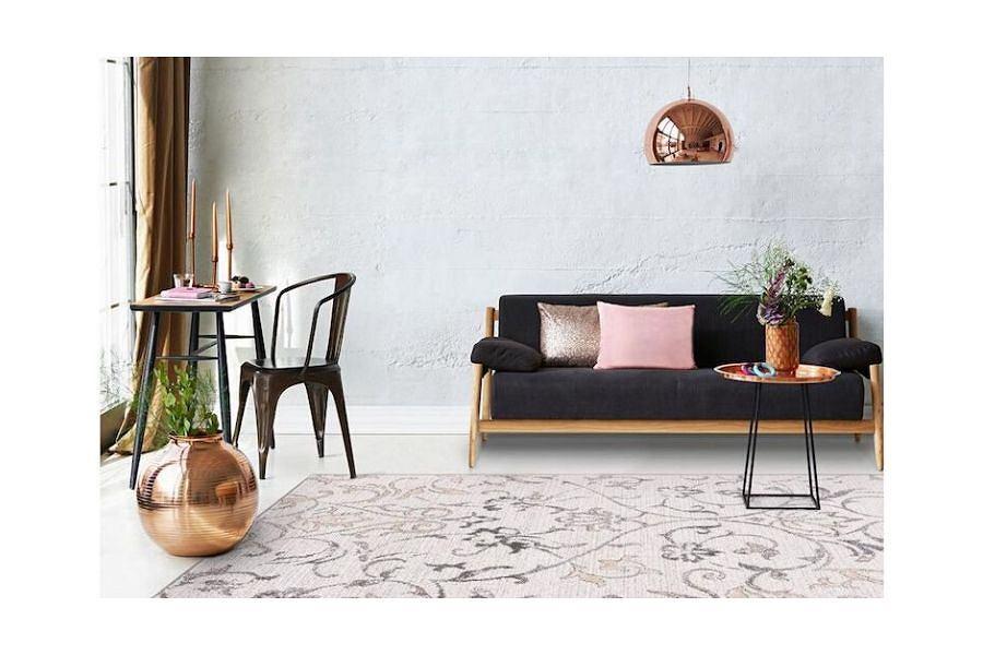 Szary dywan GARLAND marki Agnella, o wymiarach 160 x 230 cm