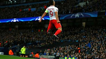 Radość Radamela Falcao po golu strzelonym Manchesterowi City