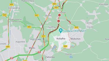 Wypadek koło Kobyłki