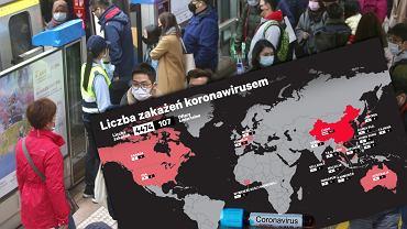 Liczba zakażeń koronawirusem