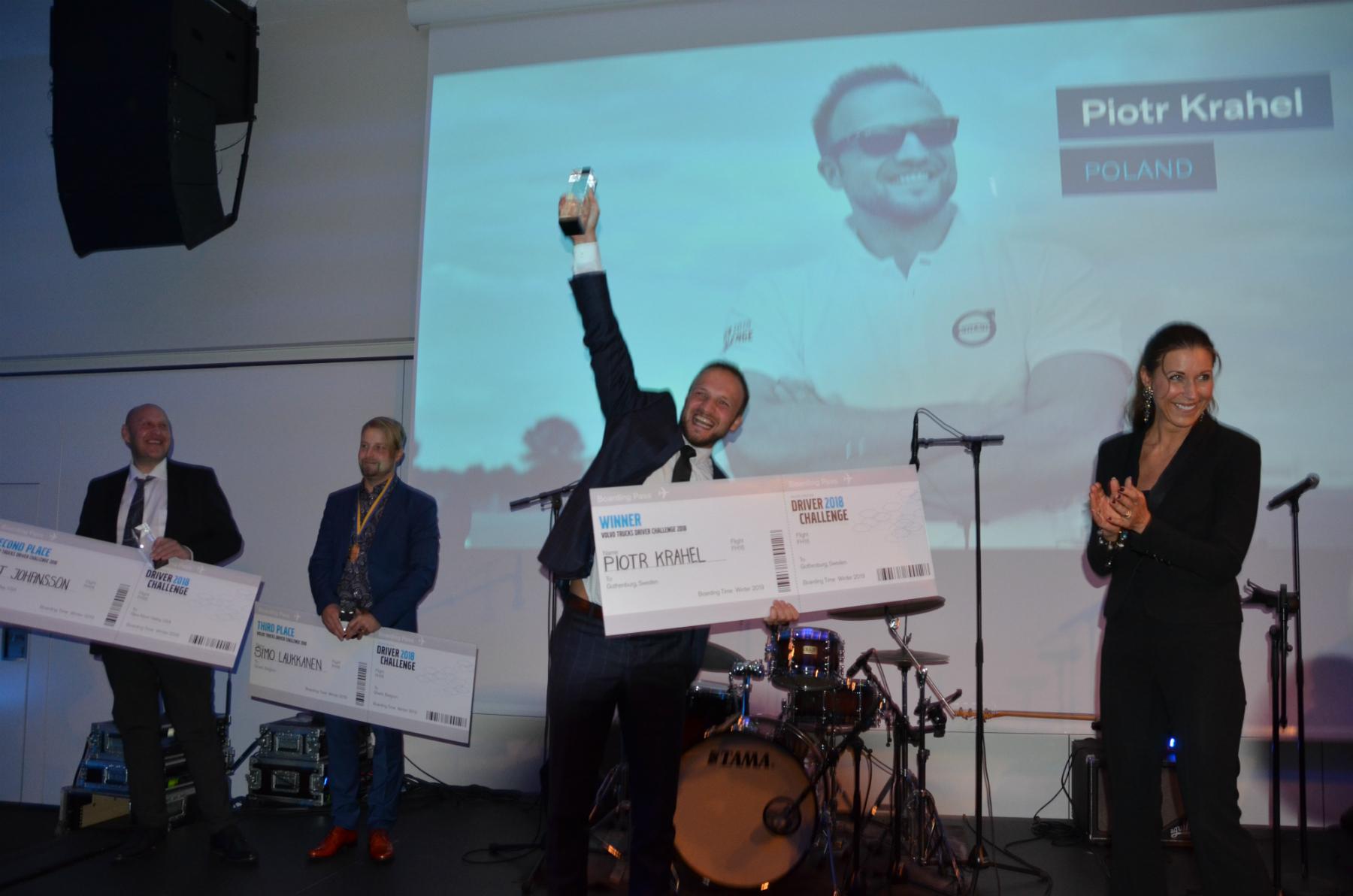 W Göteborgu, ojczyźnie Volvo, Piotr rywalizował z 32 osobami z całego świata (fot: archiwum prywatne)