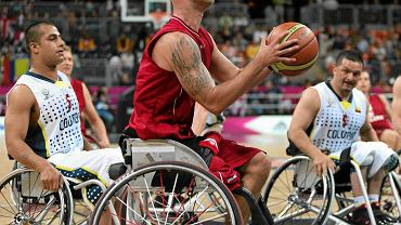 Mecz Polska - Kolumbia podczas paraolimpiady w Londynie