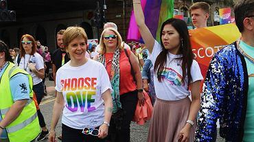Nicola Sturgeon na paradzie równości