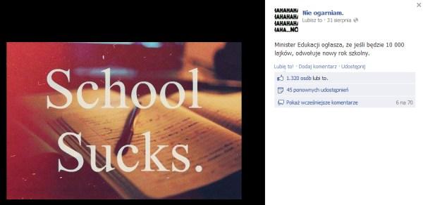 Facebook / status profilu