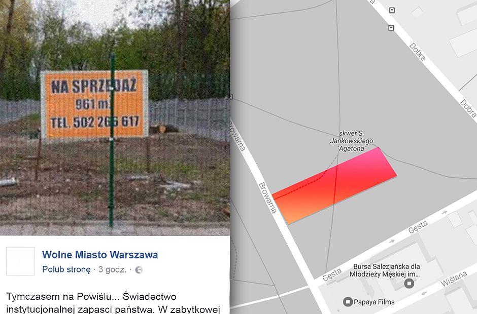 Działka na samym środku skweru za 5 mln zł