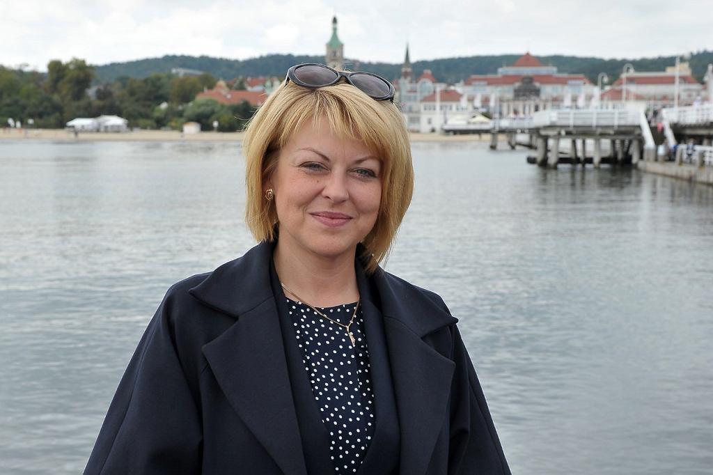 Andżelika Borys, szefowa Związku Polaków na Białorusi w Sopocie