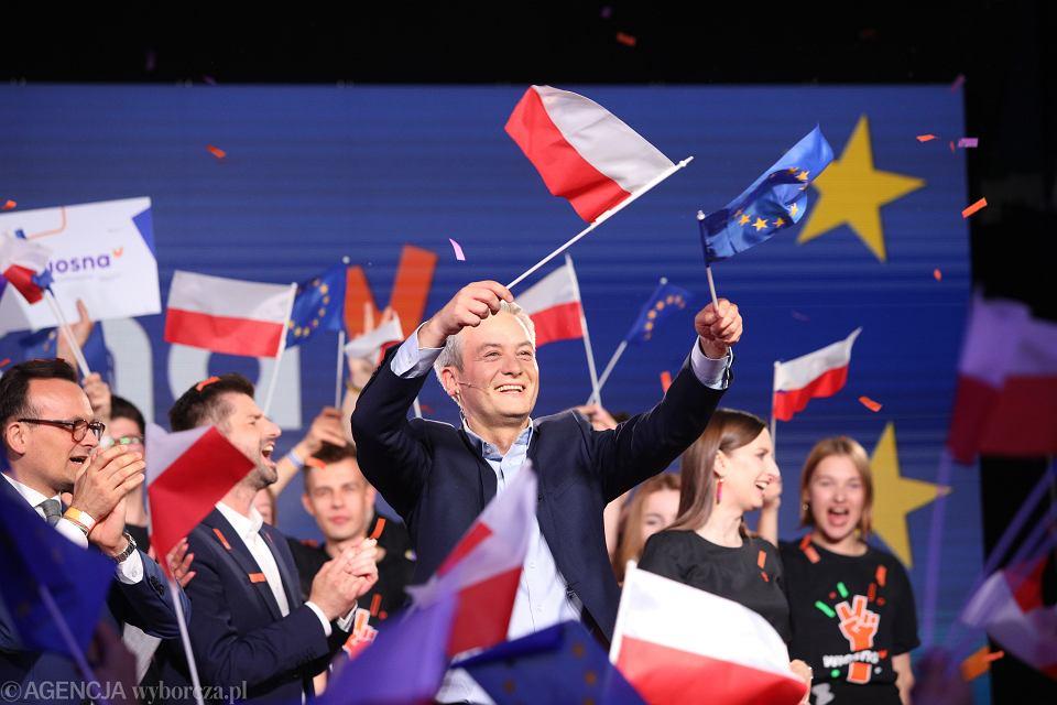 Wieczor wyborczy partii Wiosna