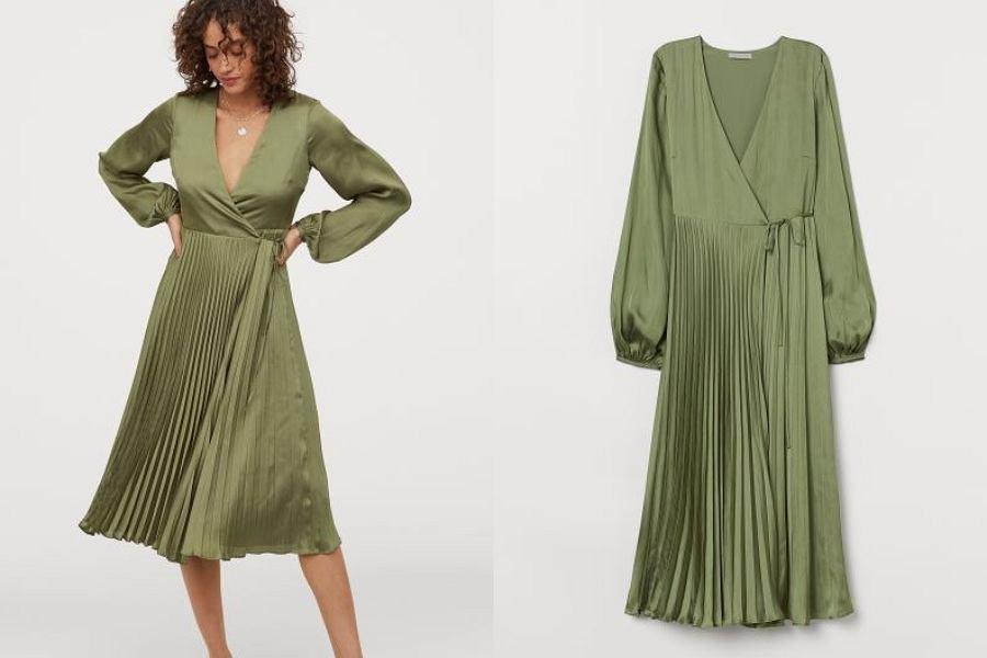 sukienka plisowana HM