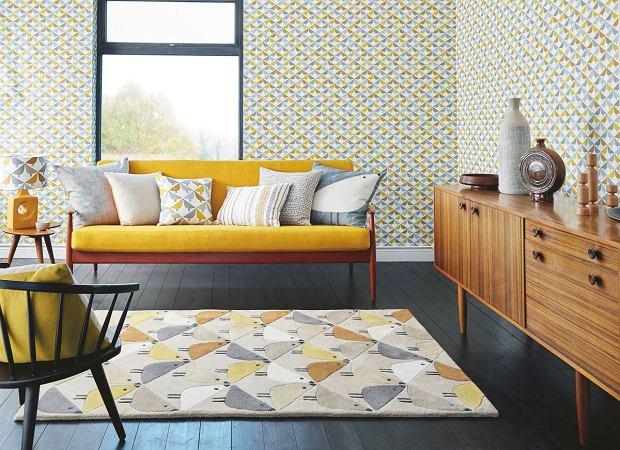 Oryginalny dywan w ciekawe wzory