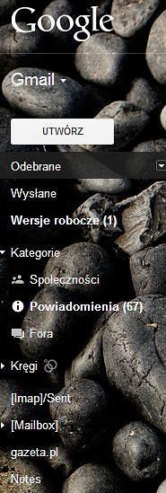 Kategorie w nowym Gmailu