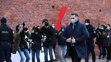 Wawel, 11. rocznica pogrzebu Lecha i Marii Kaczyńskich. Na zdjęciu: Przemysław Czarnek.